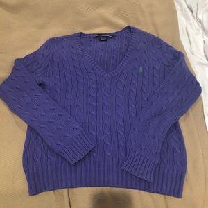 Ralph Lauren cable knit sweater - women's size L